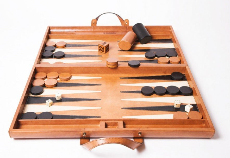 Leather Backgammon Board