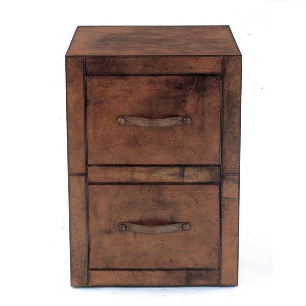 Havana Leather Filing Cabinet