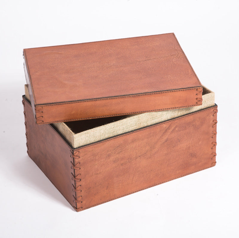 Havana Leather Storage Box