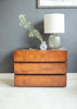 Havana 3 Drawer Side Table with light and vase