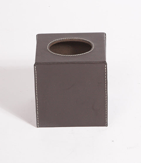 Havana Espresso Leather Tissue Box