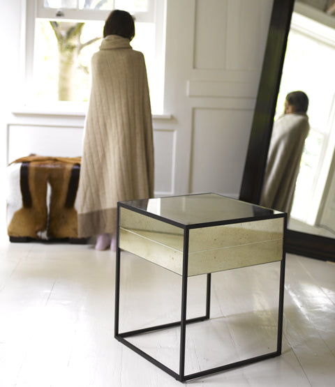 Hudson Side table with woman and mirror