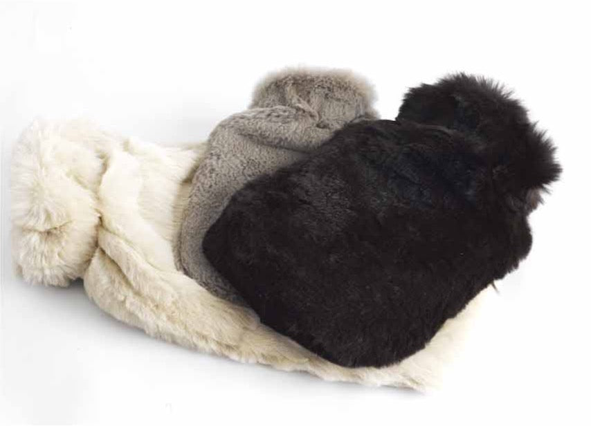 Rabbit Fur Hot Water Bottle