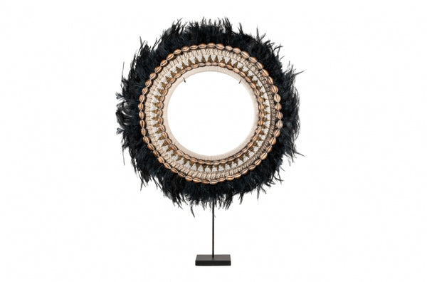 Juju Black Feather Disk on Stand