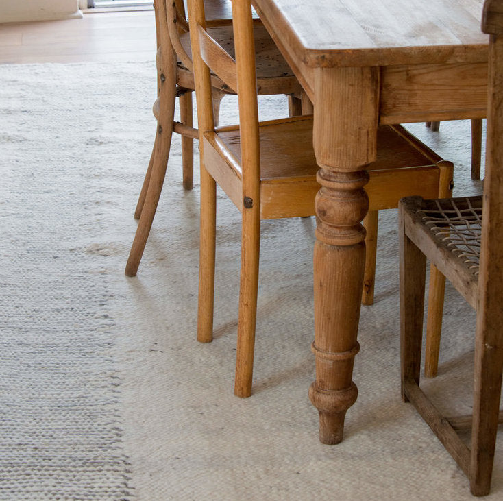 Karakul Rug under Table