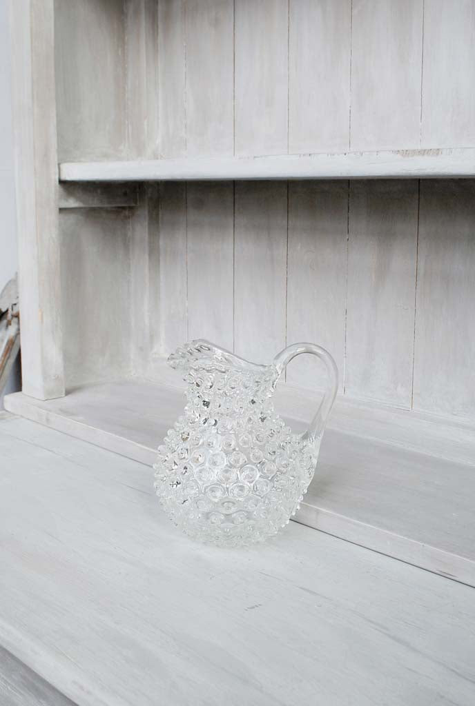 Round Hobnail Jug with Background