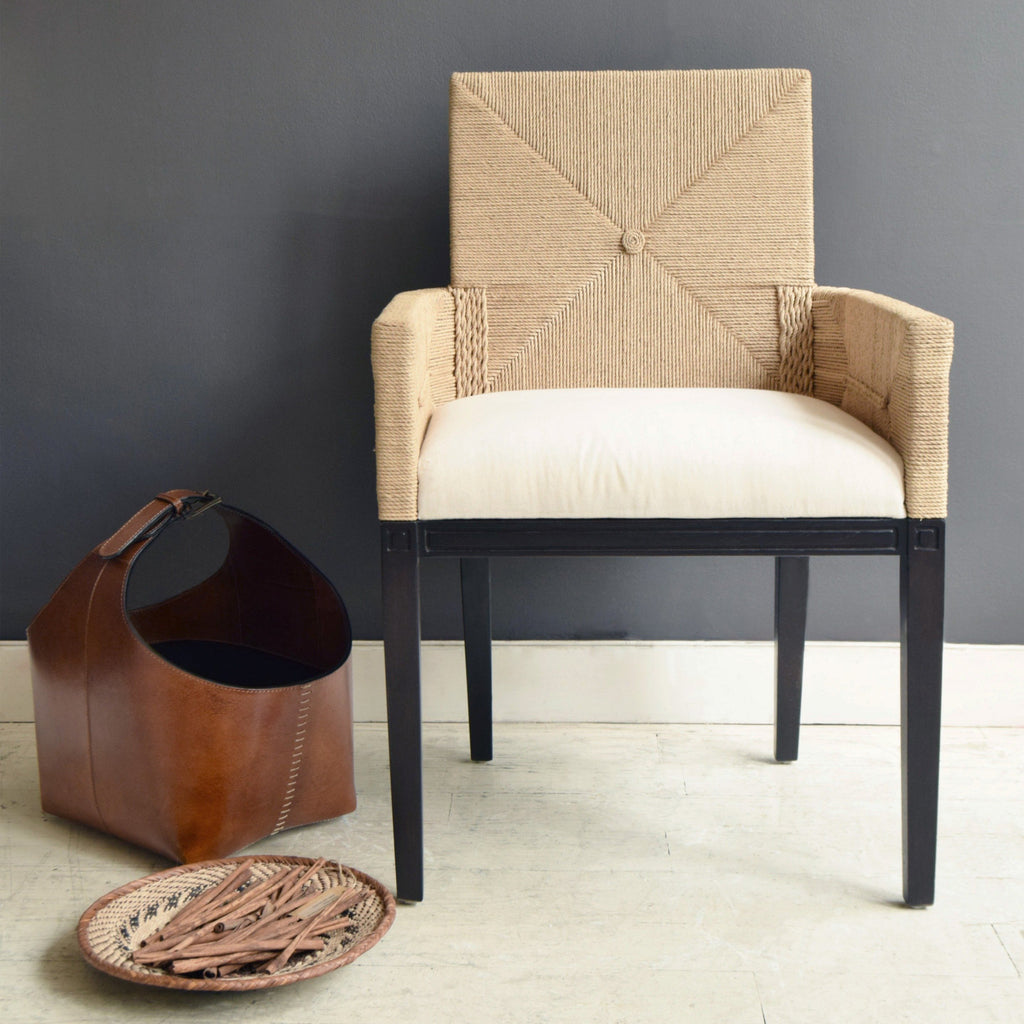 Maasai Mara Dining Chair with Basket and Bowl