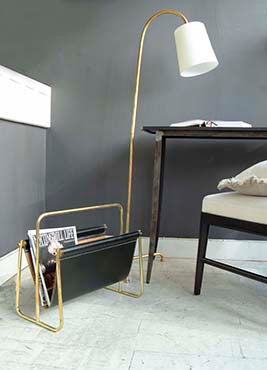 Mia Lamp with side table and magazine rack