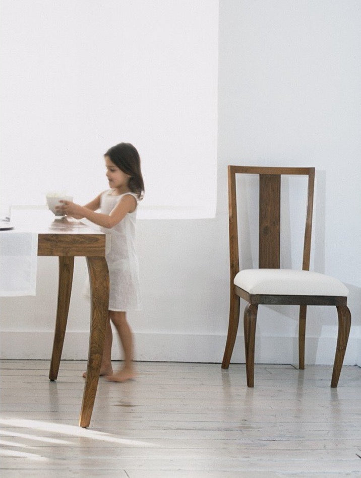 mahoot Dining Chair with girl and table