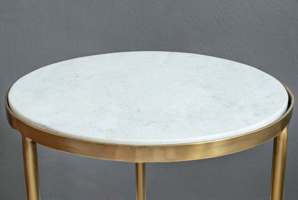 Metro Brass Nesting Table Top Finish
