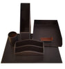 Havana Desk Set In espresso on white