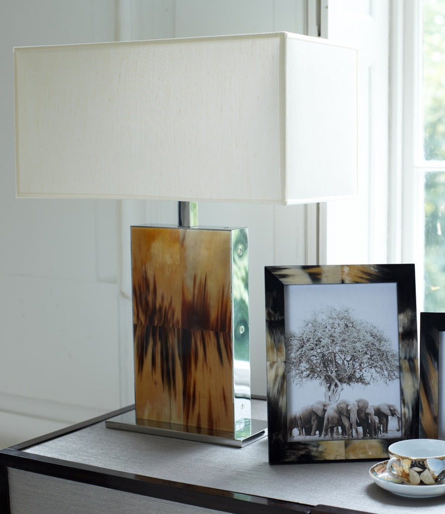 Rectangular Arca Horn Table Lamp In House With Decor