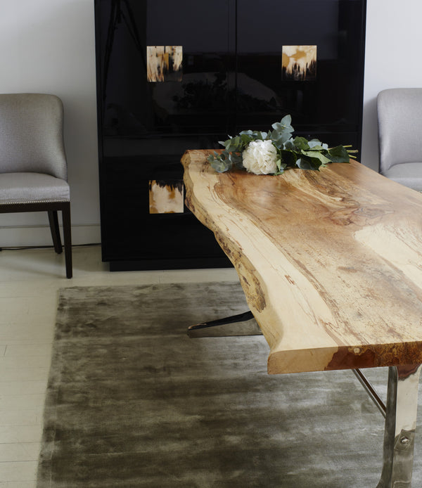 Shikari Raw Wood Dining Table In home