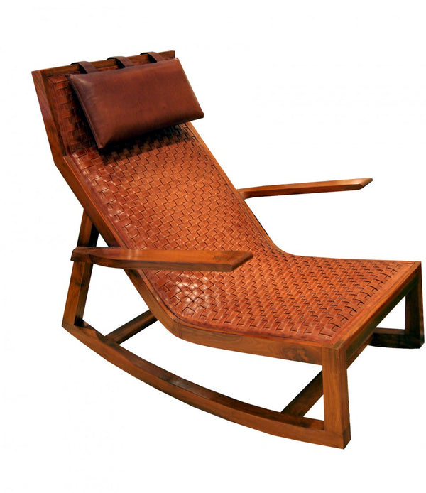 Havana Leather Rocking Chair