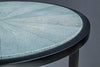 Shagreen Top Detail on Triangle side table