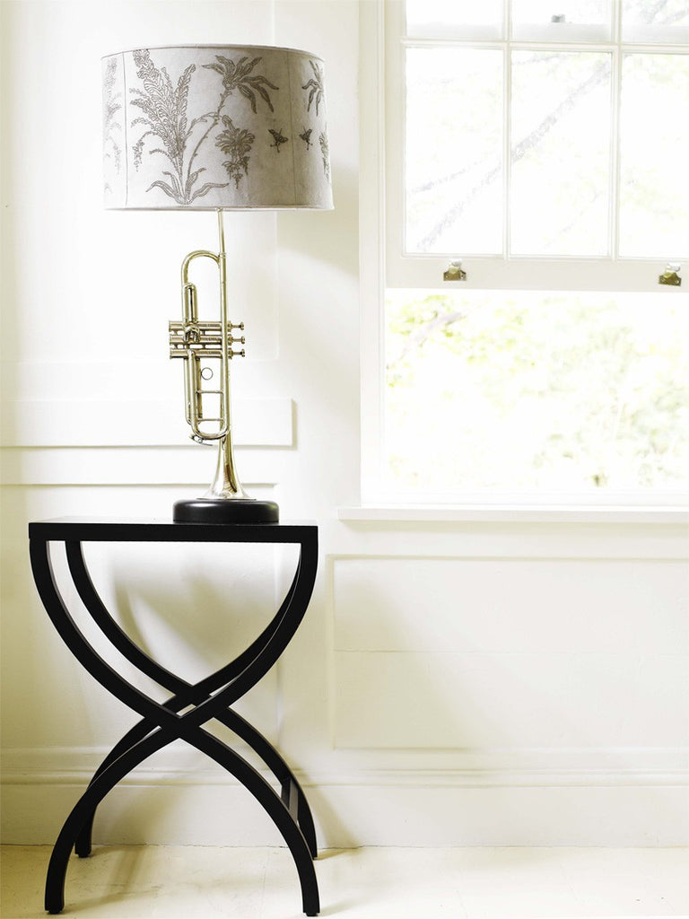 Shikari Side Table With Lamp in Home