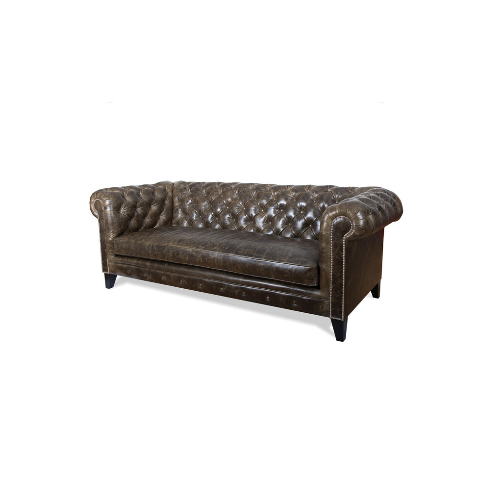 Chesterfield sofa from side