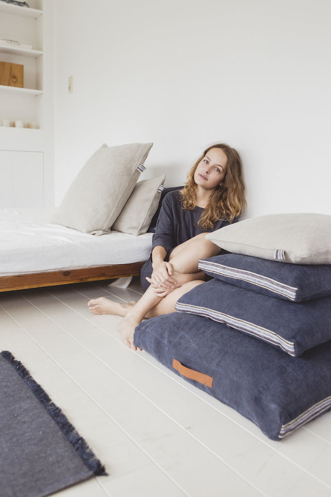 Galloper Floor Cushion in Pile By Woman