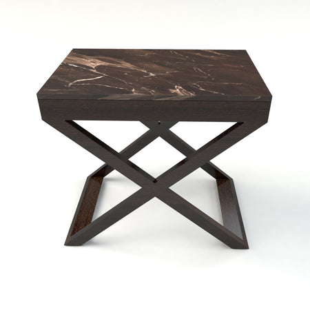 Metro Marble Top Emperador Side Table