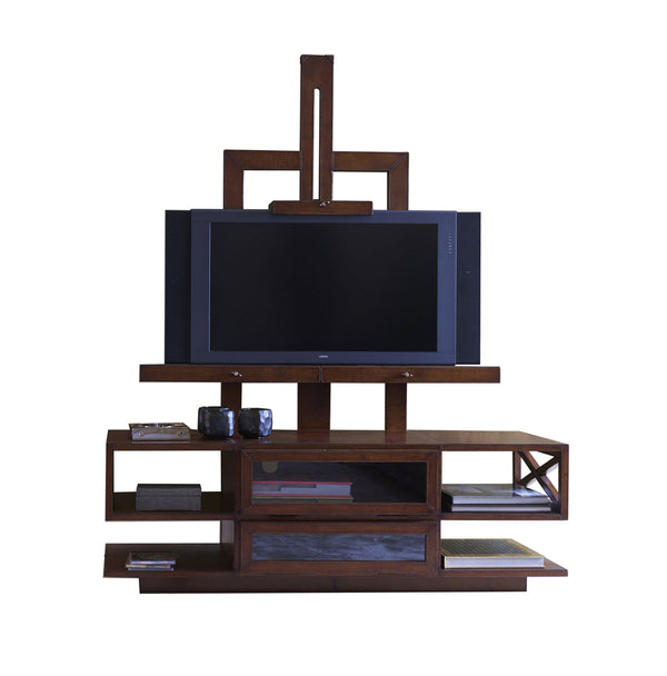 Havana Leather TV Easel