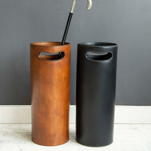 Havana Umbrella Stand Tan and Black with Cane