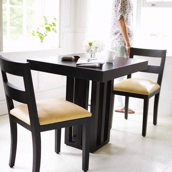 Westbourne Dining chair with Table and woman