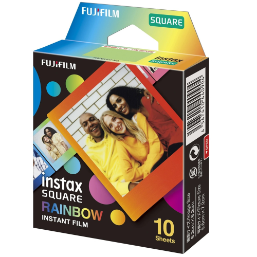 Fujifilm Instax Square Rainbow Film - 10 PACK