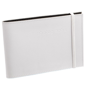 Citi White Leather 4x6 Photo Album