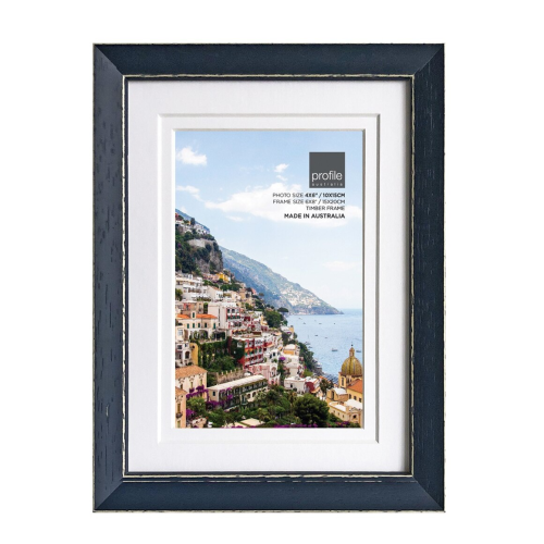 Amalfi Navy Wooden 6x8 for 4x6 Photo Frame
