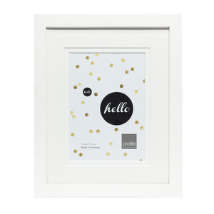 Deluxe White 11x14 Frame for 8x10