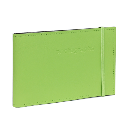 Citi Citrus Green Leather 4x6 Photo Album