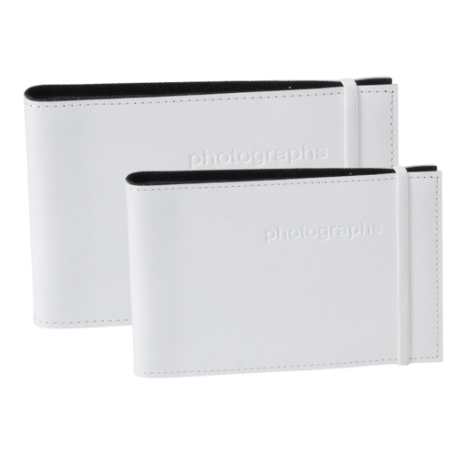 Citi White Leather 5x7 Photo Album
