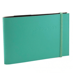 Citi Biscay Green Leather 4x6 Photo Album