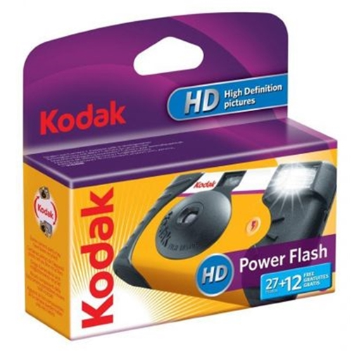 Kodak Power Flash 35mm 27 + 12 Exposure Disposable Film Camera