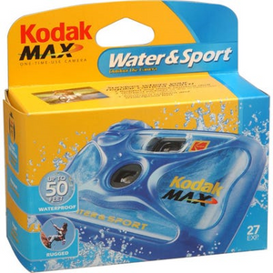 Kodak Max Water & Sport 27 Exposure - Disposable Film Camera