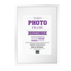 White Large Format 20x30 for 16x24 Frame