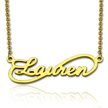Load image into Gallery viewer, Unique Infinity Style Name Necklace Sterling Silver