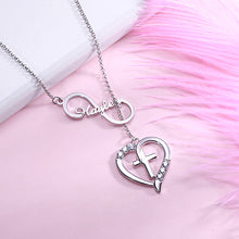 Load image into Gallery viewer, Personalized Infinity & Heart Cross Name Necklace