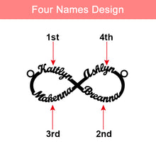 Load image into Gallery viewer, Personalized Infinity Name Necklace Sterling Silver