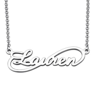 Unique Infinity Style Name Necklace Sterling Silver