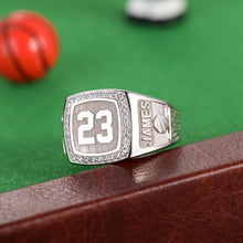Load image into Gallery viewer, Engraved Basketball Signet Ring with Birthstone