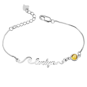 Personalized Wave Name Bracelet/Anklet