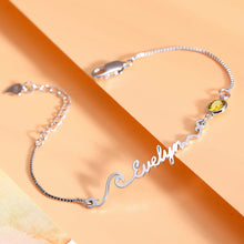 Load image into Gallery viewer, Personalized Wave Name Bracelet/Anklet