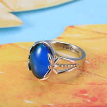 Load image into Gallery viewer, Personalized Color Changing Mood Ring in Silver
