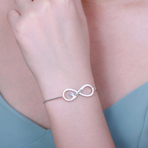 Personalized Infinity Bracelet with Birthstone