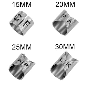 Engraved Armor Ring Wide Cuff Stainless Steel