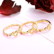 Load image into Gallery viewer, Personalized Birthstone Heart Ring in Gold