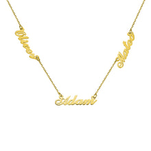 Load image into Gallery viewer, Personalized Three Name Neckalce