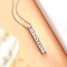 Load image into Gallery viewer, Personalized Cubic Bar Name Necklace