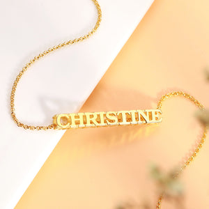 Personalized Cubic Bar Name Necklace